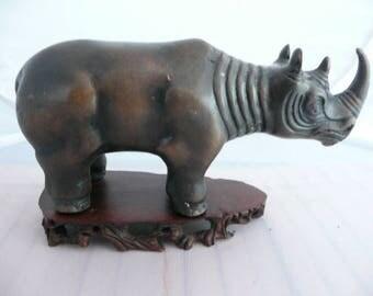 Bicorn Rhino figurine,African  bicorn Rhinoceros