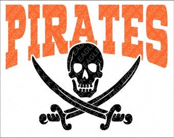 Pirates| Crossbones| SVG| DXF| EPS| Cut File| Mascot| Football| Basketball| Baseball| Silhouette| Cricut| Vector File| Instant Download