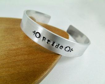 LGBT Gay Pride Cuff Bracelet Lesbian Gay accessory Girlfriend Boyfriend  Gift