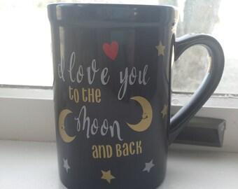 I Love You to the Moon and Back Coffe Mug. Anniversary gift. Relationship gift. Moon and Back Mug. Couple Mug. Gift Mug. 16 oz mug.