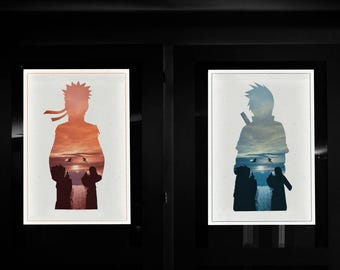 Final Valley Minimalist Poster Set. Anime Manga Art Print.