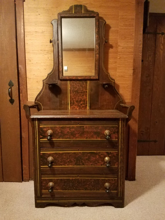 Antique Victorian Dresser with Mirror - LOCAL PICKUP/DELIVERY Only