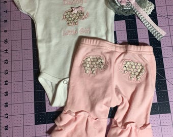 Daddy's Little Girl Elephant Outfit