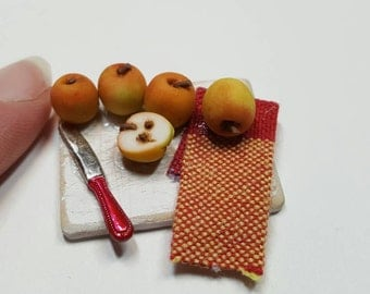 Dollhouse miniature apples miniatures
