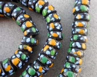 Krobo Glass Disk Beads (9x5mm) [65967]