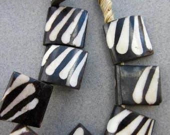 Batik Bone Beads (22x20mm) [66306]