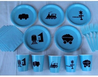 Train Tableware Set for 5 People