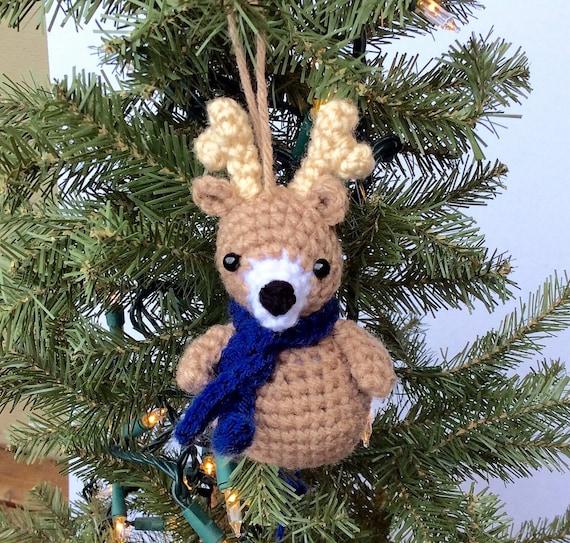 Crochet Animal Ornament Pattern, Crochet Christmas Pattern ...
