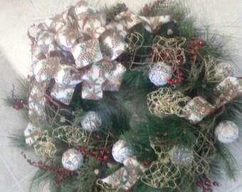 """Cabin Wreath 24"""""""