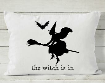 Halloween Pillow - Halloween Decor - Halloween Witch - Decorative Throw Pillow Cover