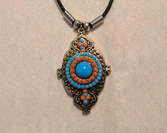 Pendant Necklaces on black cord