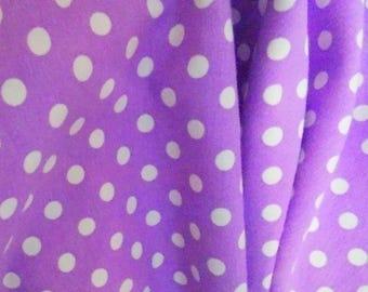 Knit Magic Purple Small Dots Fabric 1/2 yard