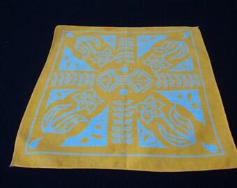 Vintage collectors cotton printed Nestle handkerchief (04399)