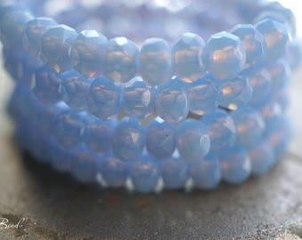 Morning Mist, Rondelle Beads, Czech Beads, Beads, N2359