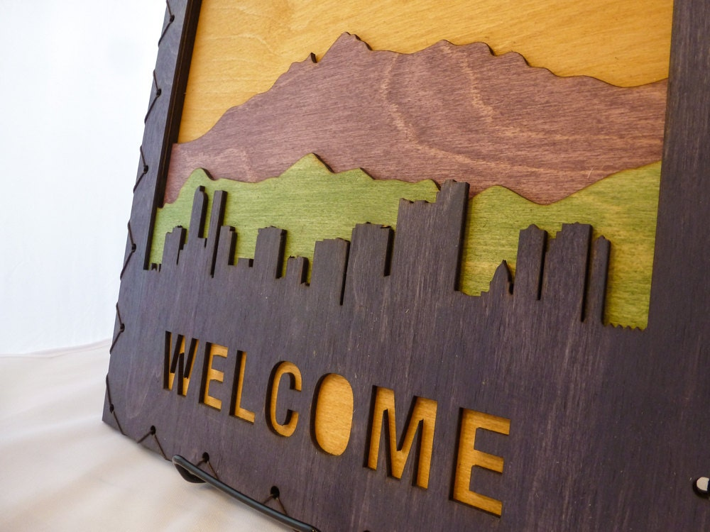 Welcome Sign Denver Art Denver Wall Hanging Denver Decor Colorado Home Decor Colorado Decor Denver Decorating Idea