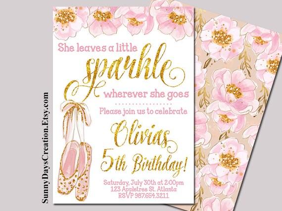 She Leaves a Little Sparkle Wherever She Goes Girl Birthday