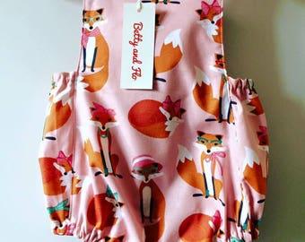 Romper in Lady Fox Design Size 9-12 months
