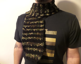 Camouflage & Black Scarf