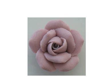 "1 Dozen Porcelain Roses - Dark Pink - 1"""