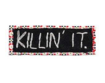 KILLIN IT || Cool Patches Teen Bookbags | Hipster Backpack Jacket Patch Punk Patches Punk Rad Patch Canvas Backpack