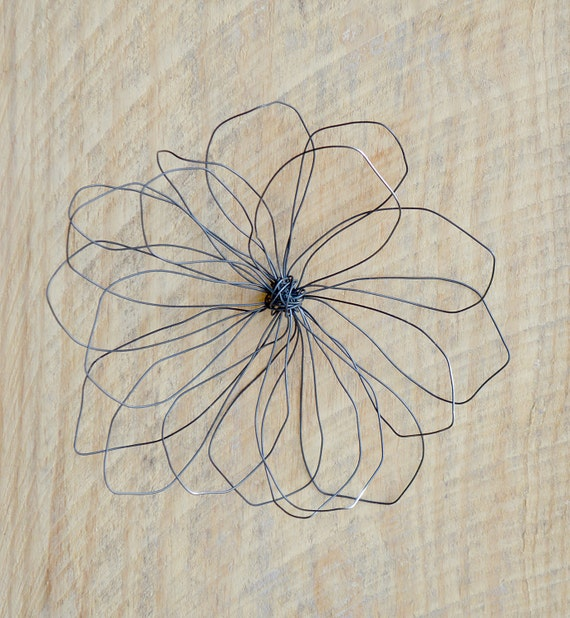 Items Similar To Wire Flower Wall Art Rustic Wire