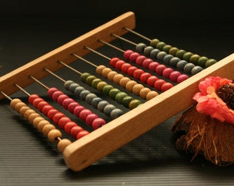 Vintage abacus, Wooden Abacus, Vintage toy, Counting abacus, retro abacus, Soviet Abacus, Antique Abacus, Retro school, Midcentury Abacus