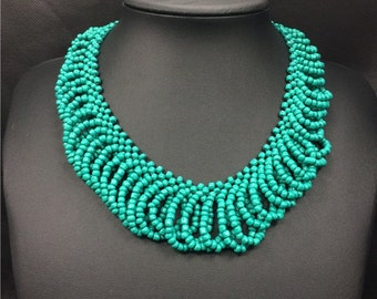 Big necklaces collars beaded Indian jewelry  antique string bead necklace #1