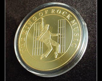 Elvis Jailhouse Rock Gold Plated Commemorative Coin
