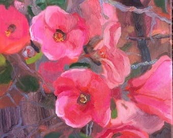 In full bloom (original oil painting, impressionist, flowers)