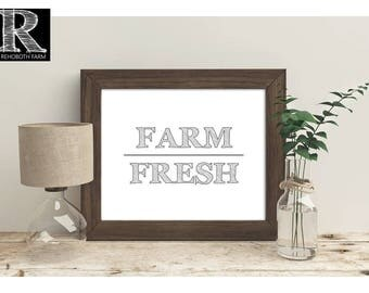 Printable Instant Download Farmhouse Printable Farmhouse Style Decor Country Wall Art Typography Print Farm Fresh Landscape Print