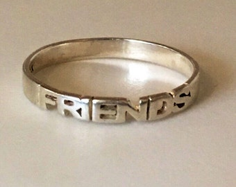 Sterling Silver - FRIENDS ring
