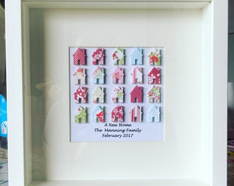 Personalised New Home Frame. Other Colours Available. New home gift. Housewarming gift.