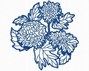 10 flowers redwork machine embroidery embroidery 4 x 4 format