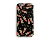 Lipstick Glitter Phone Case iPhone 7 6 6s Plus SE 5s 5c unique glitter phone case Samsung S8 S8 Plus Google Pixel Peach