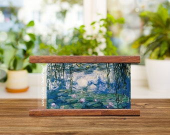 Water Lilies - Claude Monet print with modern and minimal timber frame