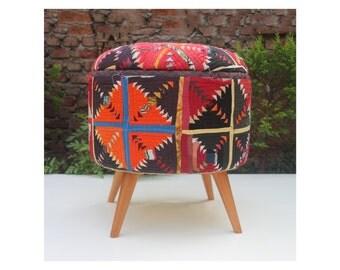 boho suzani ottoman antique suzani ottoman suzani cotton suzani bohemian furniture bohemian furniture