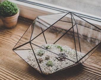 Terrarium Large Strange shape Staine Glass terrarium Succulent Flowerpot Geometric triangle shape
