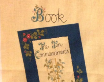 Vintage Ten Cammandments picture cloth book fabric panel cut and sew 1996 Fabric Traditions