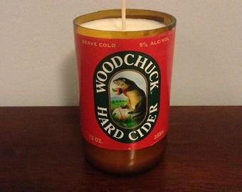 Woodchuck Beer Bottle Candle