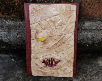 Mummy journal, the mummy, mummy book, halloween book, halloween, halloween diary, mummy diary, altered journal, hardbound journal,