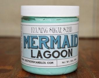 Foaming Sugar Scrub, Mermaid Lagoon, Sugar Scrub, Body Scrub, Scrubs, Mermaid