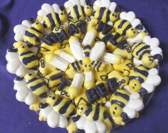 What will it Bee baby shower chocolates candy tray