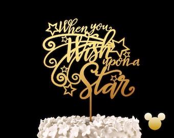 When You Wish Upon a Star Wedding Cake Topper -  Disney Love Keepsake Wedding Cake Toppers