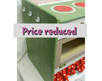 Kids wooden play kitchen
