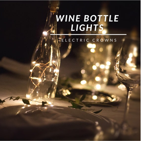 Wine Bottle Crafts DIY Wedding String Lights by ElectricCrowns
