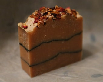 Sunflower and Rose Cold Process Soap