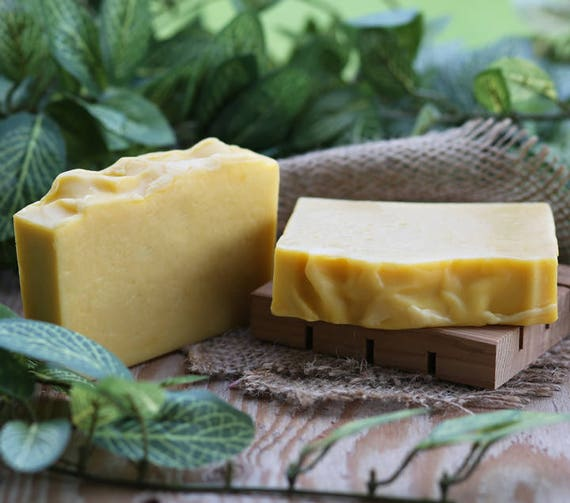 Organic Lemon Tea Tree Handmade Soap, Organic Soap, Coconut Milk Soap, Vegan Soap