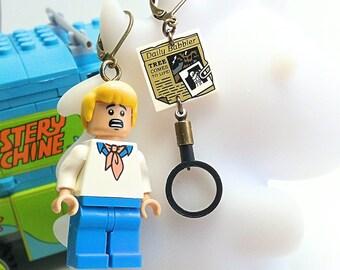 Scooby Doo Fred earrings
