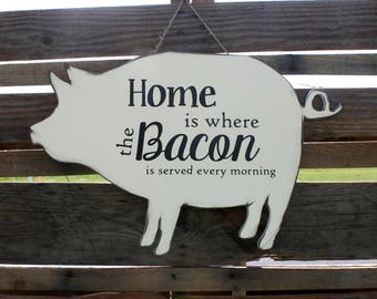 Farmhouse Sign - Farmhouse Piglet Sign - Farmhouse Decor - Farmhouse Piglet Decor - Wood Farmhouse Sign - Wood Farmhouse Decor - Birthday