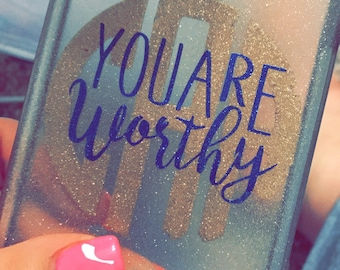 Monogram + You Are Worthy decal